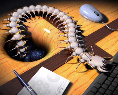 3D Illustration of a super bug