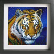 Painting of a Tiger on Canvas